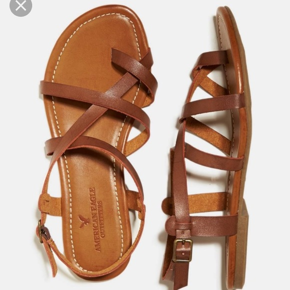 27fd80fd350 American eagle faux leather strappy sandal